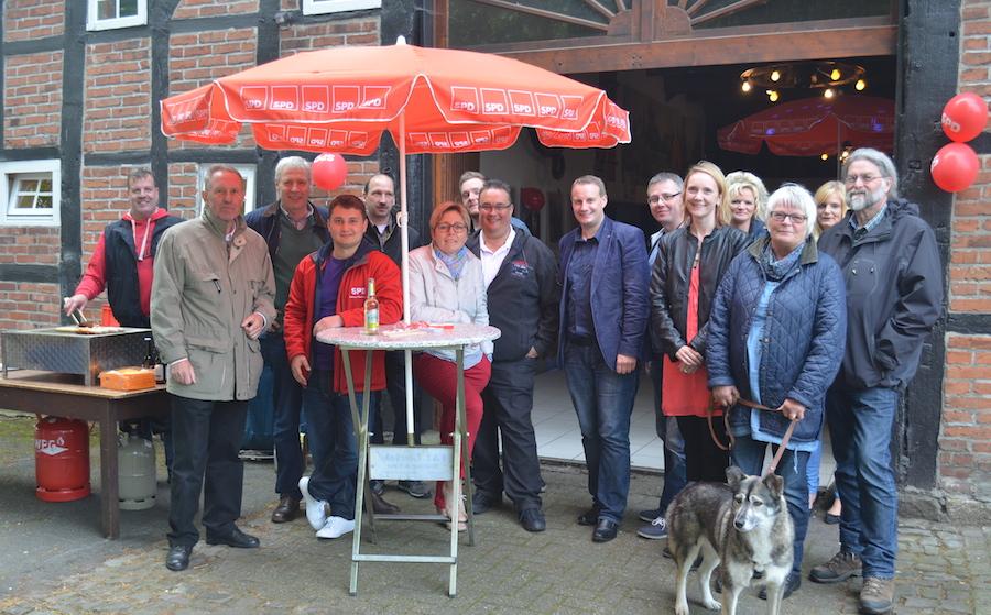 Die Organisatoren der Erstwähler-Veranstaltung mit den SPD-Kandidaten